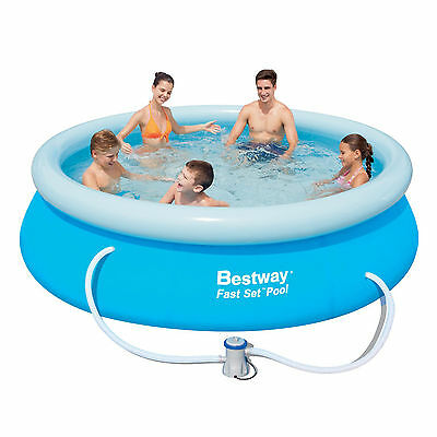 Swimming Pool Paddling Garden Family Fun Outdoor Inflatable Bestway Fast Set 10'