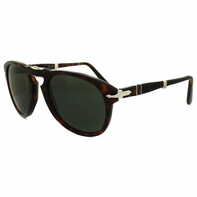 Persol Gafas de Sol 0714 24/31 Havana Verde Plegable Steve Mcqueen 54mm
