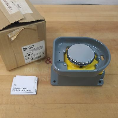 Allen Bradley 800P-S1CH1AV Series E Pushbutton, 600VAC, 10 Amps, Palm Operated.