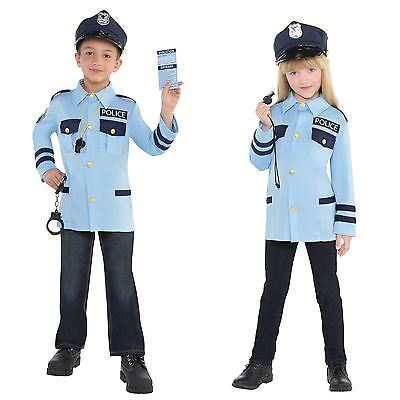 Kids Childs Police Cop Officer Uniform Book Week Fancy Dress Up Costume Kit 4-6