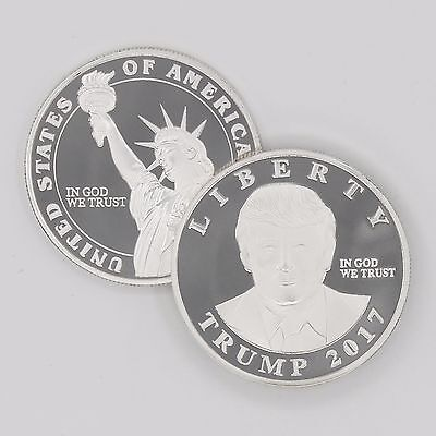 2017 President Donald Trump Inaugural Statue of Liberty Commemorative Coin!!!