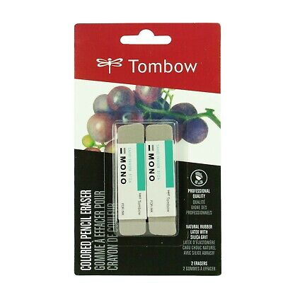 Tombow 67304 Mono Sand Colored Pencil Eraser 2-pack
