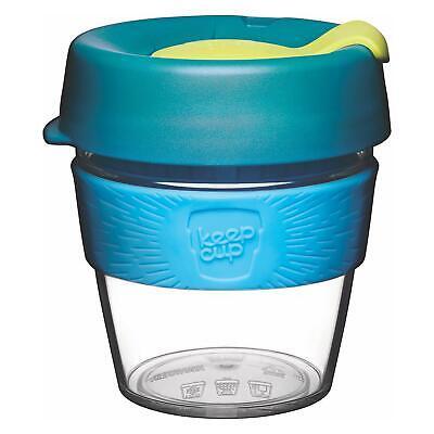 KeepCup Original Clear Edition Reusuable Coffee Cup Travel Mug, 227ml 8oz, Ozone