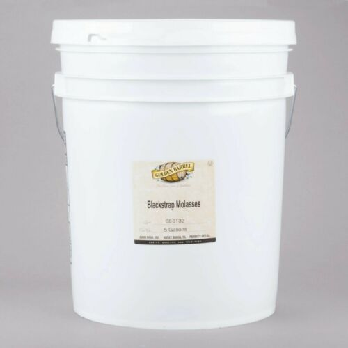 5 Gallon Restaurant Cafe Blackstrap Molasses Sulfur Free Pail Barrel Gallons