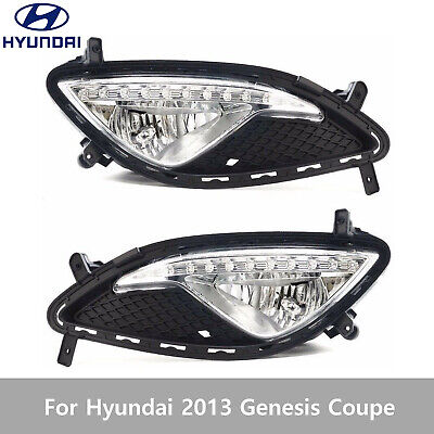 OEM Fog Light Lamp+ Cover+ Connector LH&RH For Hyundai Mobis 2013 Genesis Coupe