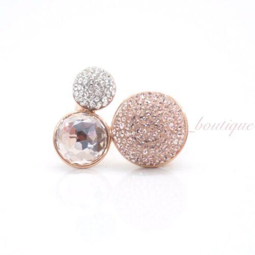 NIB Swarovski 5251695 Fun Ring Rose Gold Tone Crystal Pink Multi $199 Size 52
