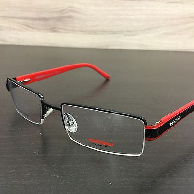 Carrera CA 7532 Eyeglasses Frames Black Red T0Y Authentic (Black And Red Glasses Frames)