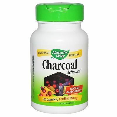 Charcoal Pills Natures Way Activated Full Body Detox Capsule Best Cleanse
