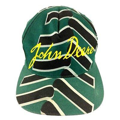 John Deere VTG Snapback Hat Swingster Tire Tracks Script Logo Made in USA