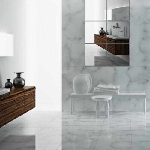 6 Pack 30cm 30cm Wall Mirror Tiles For Bathroom Bedroom