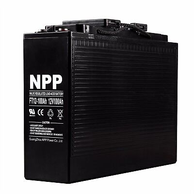 Ft12-100ah 12v 100ah Front Access Deep Cycle Battery For Solar Power System