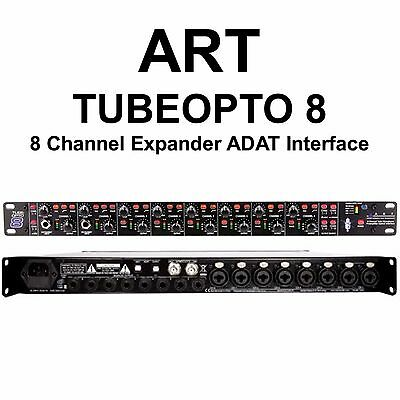 - ART TUBEOPTO 8 Channel Digital Preamp Expander ADAT 24Bit Audio I/O Interface
