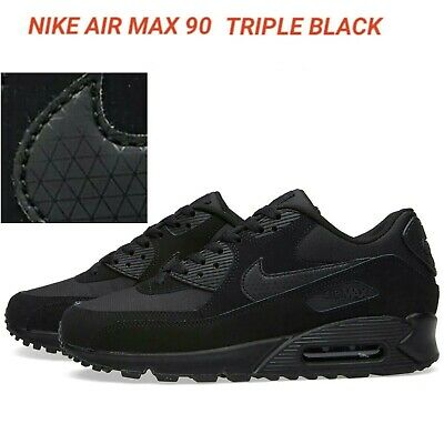 NEW AIR MAX 90 Triple Black Men's Trainers  UK STOCK. FREE DELIVERY
