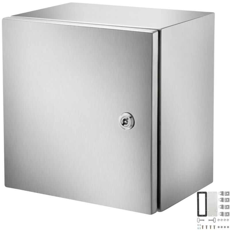 """Vevor 12x12x8"""" Stainless Steel Electrical Box Nema 4x Electrical Enclosure Ip65"""