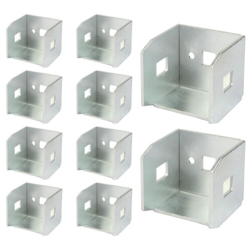 10 Pack U-Shaped Fence Bracket Repair Kit,  for Square Tube 40×40 mm