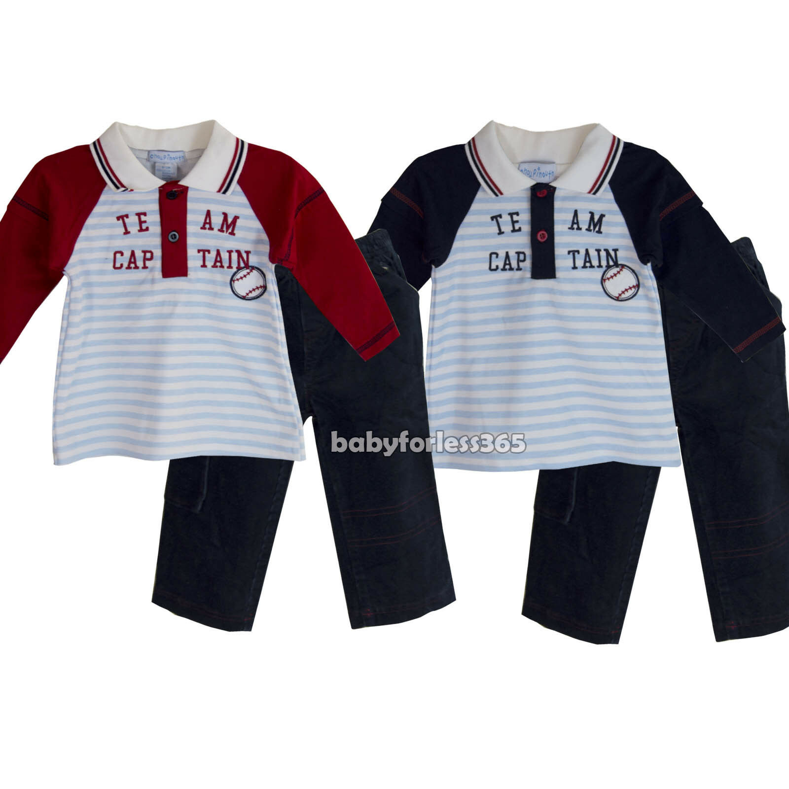 7cfe803812aa New Baby Boys 2 Piece set Shirt Top   Pants Clothes outfit Size 3 6 ...