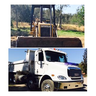 Earthmoving, house pads, roads, clearing, logging, dams, haulage