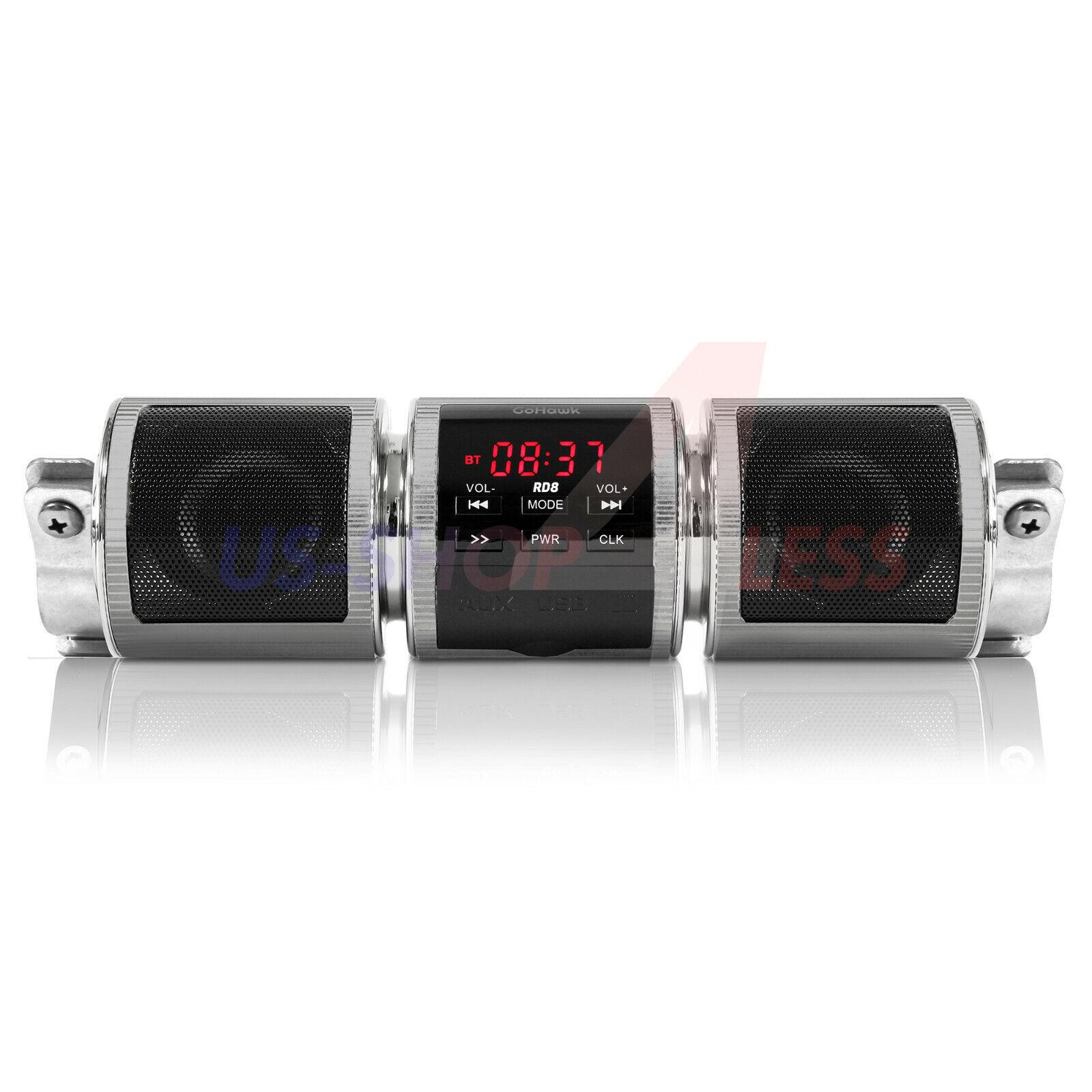 4 Wheeler Handlebar Bluetooth Motorcycle Stereo Speaker Audio System MP3 ATV UTV