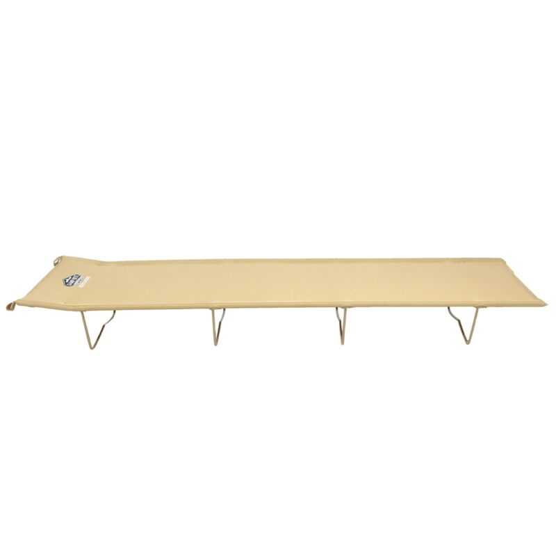 Kamp-Rite Economy 84x53x40 Inch Compact Light Backpacking Camping Bed Cot, Tan