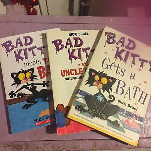 Three hilarious and funny bad kitty books