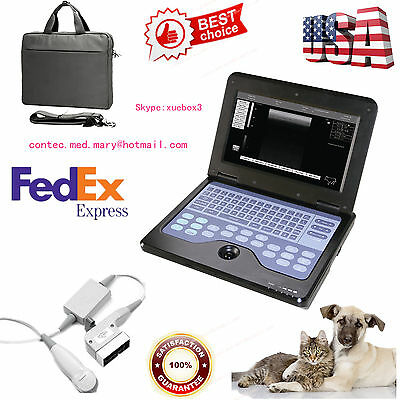 Us Seller Veterinary Vet Laptop Ultrasound Scanner Machine Micro Convex Probe