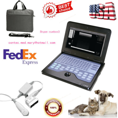 Us Seller ,veterinary  Vet Laptop Ultrasound Scanner Machine Micro Convex Probe