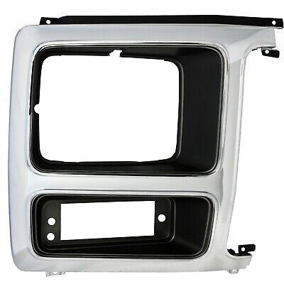 1982~1986 Ford Pickup Truck Headlight Trim Bezel Door Chrome/Black Right Side