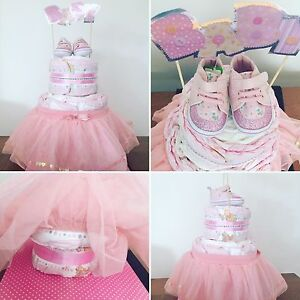 Baby Girl tutu nappy cake hamper present baby shower Canley Heights Fairfield Area Preview