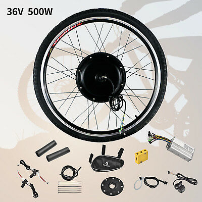 """26"""" Front Wheel 36V 500W Electric Bicycle E-bike Conversion Kit Cycling Motor, used for sale  USA"""