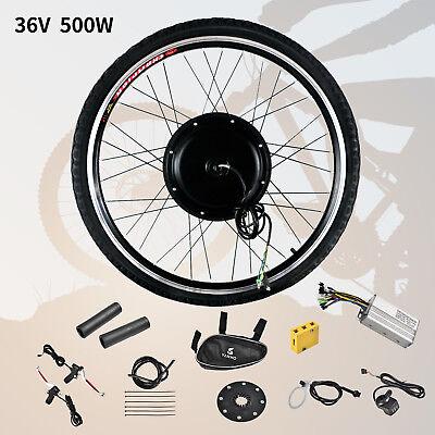 "26"" Front Wheel 36V 500W Electric Bicycle E-bike Conversion Kit Cycling Motor"