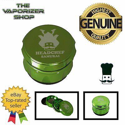Green Head Chef Samurai Top Quality Alluminium Magnetic Grinder 55mm 4 Piece