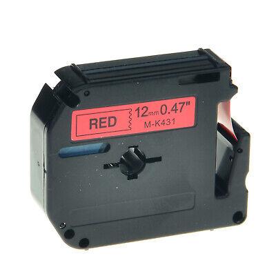 Mk431 Black On Red Tape 12mm Mk-431 M431 For Brother Pt-85 Pt-90 Label 12
