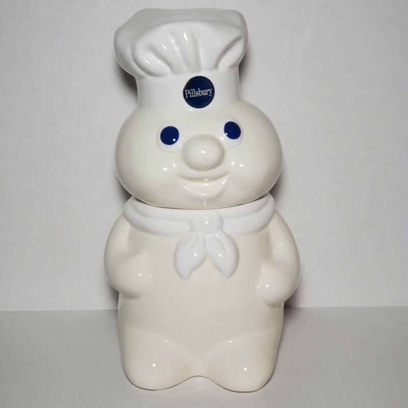 Vintage Pillsbury Doughboy Ceramic Cookie Jar 1988 Benjamin & Medwin 12 inch