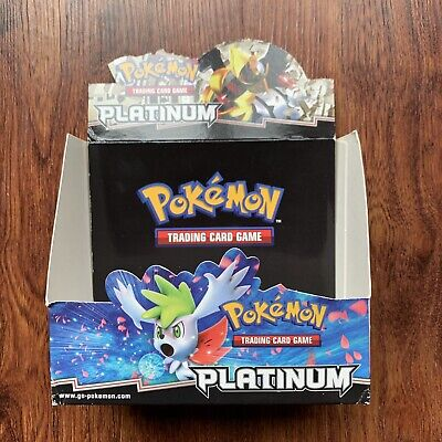 Pokemon Platinum Booster Box Vintage Display EMPTY Pokemon Platinum Booster Box