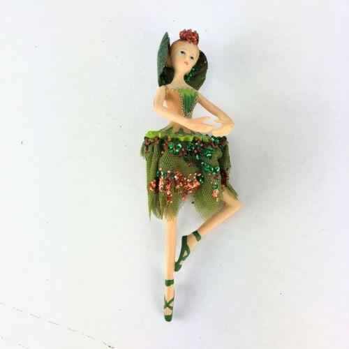 Green Fairy Ballerina Ornament