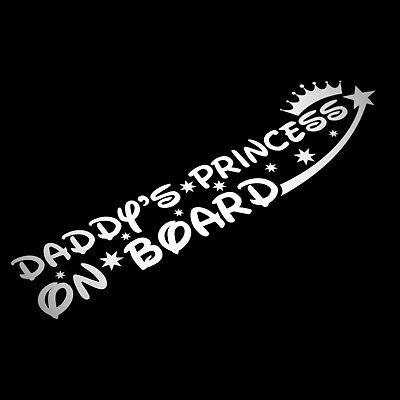 Daddy's Princess On Board Sticker Decal Child Baby Girl Baby Car Safety Awarenes