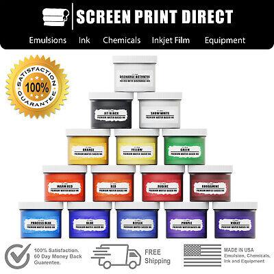 Ecotex Water Based Discharge Ink - Screen Printing Ink Kit - 8oz 14 Colors