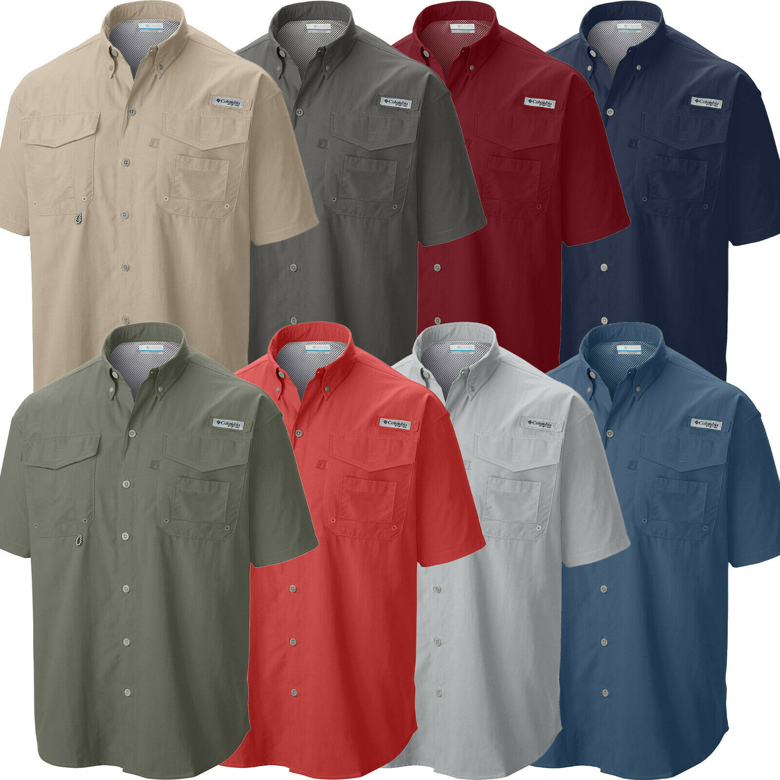New Mens Casual Shirts Short Sleeve Plain Basic Slim Fit Shirt Top S M L XL PS04