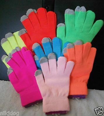 Winter Texting Gloves Bright Neon Colors - Neon Gloves
