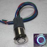 16mm Blue 12V Circle LED Momentary on-off Push Button Switch & 5 pin socket plug
