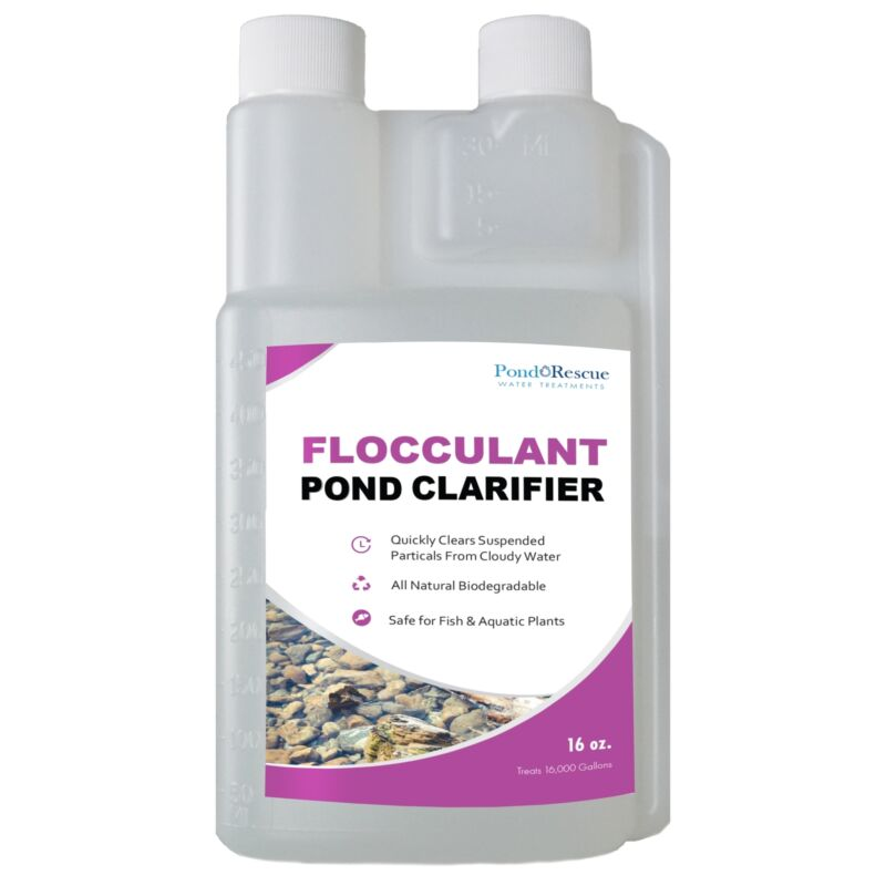 16oz Flocculant Koi Pond Clarifier Treats 16,000 Gals