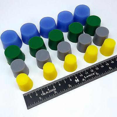 20 Piece Xl High Temp Silicone Powder Coating Plug Kit Cerakote Paint Masking