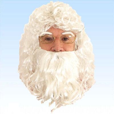 Weihnachtsmannbart Perücke Augenbrauen für Kostüm Nikolaus Ruprecht - Weiße Augenbrauen Kostüm
