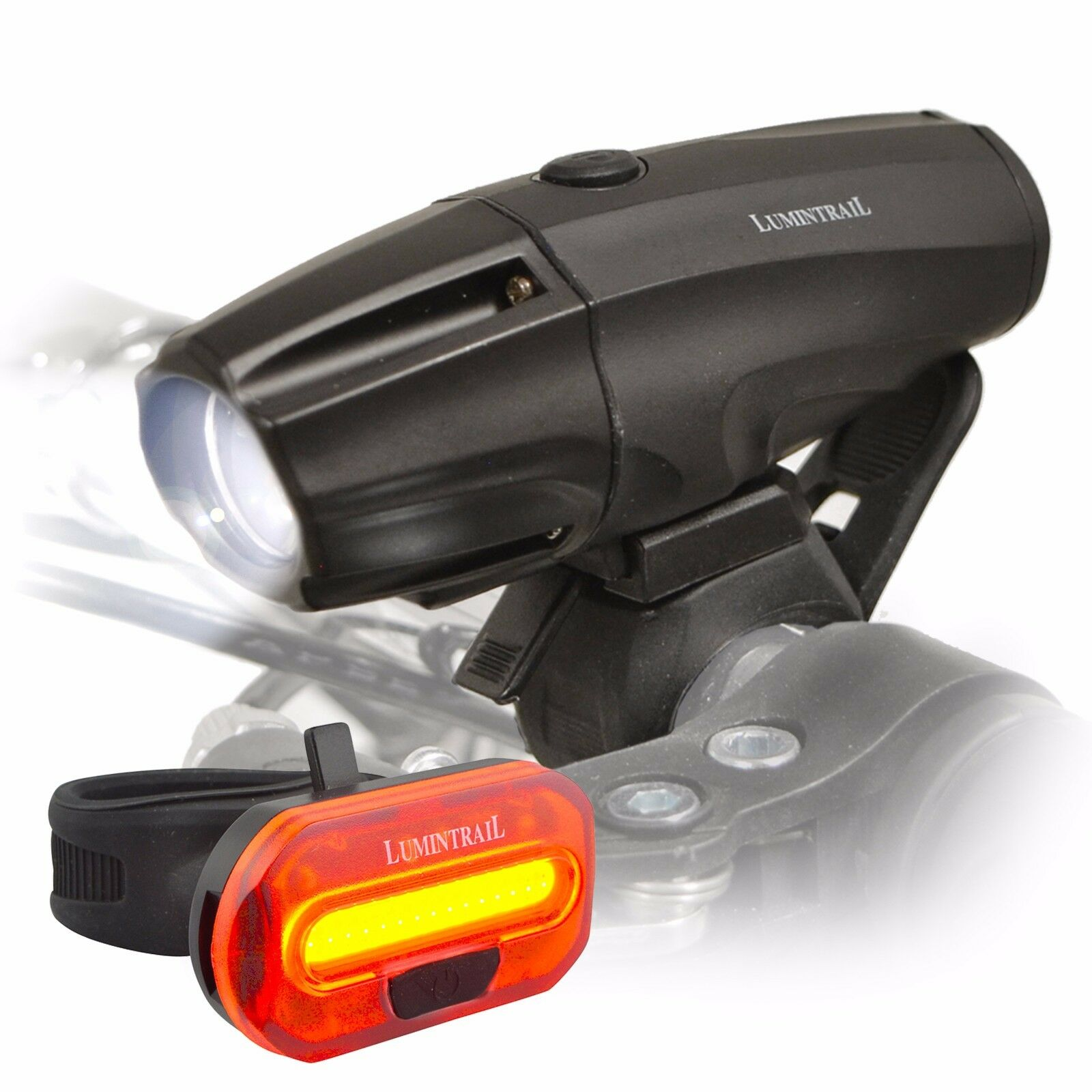 Купить Lumintrail -  Lumintrail USB Rechargeable 1000 Lumen LED Bike Light Headlight Taillight Set