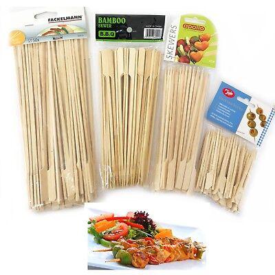 Bamboo Skewers BBQ Barbecue Wood Flat Sticks Grill Kabab Shish Kabob Fruit (Bamboo Shish Kebab Skewers)