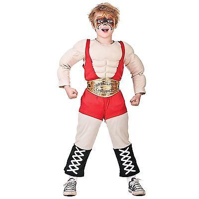 WWE Wrestler Boys Fancy Dress Wrestling Party Childrens WWF Book Week Costume BN (Girl Wrestler Costume)
