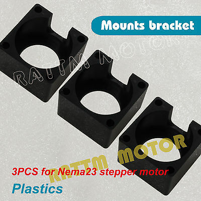 3 X Nema23 57 Stepper Motor Bracket Mount Clamp For Cnc Router Engraving Machine