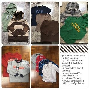 Boys 5T 13 piece shirt and sweater lot