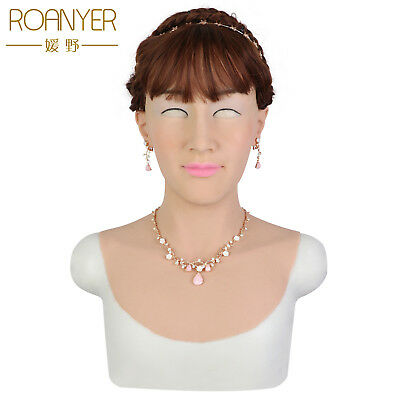 Roanyer Hallowmas crossdresser silicone real skin tia mask male to female