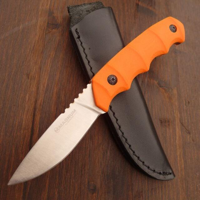 BÖKER - Magnum Orange Bamboo - Jagdmesser - Gürtelmesser + Lederscheide -02SC213
